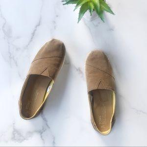 Toms Tan Platform Alpagarta Espadrille Shoes Sz 7